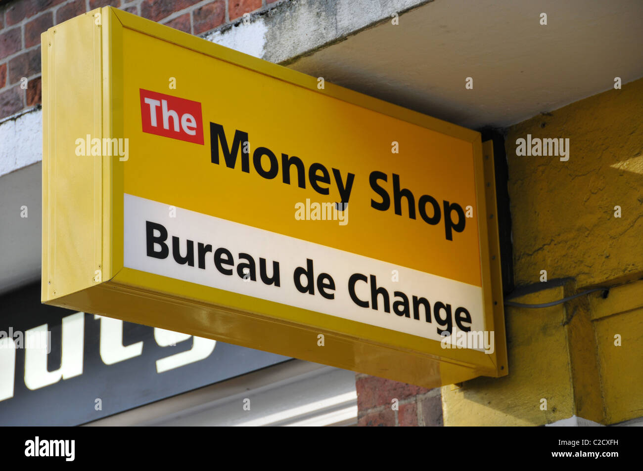 the money shop bureau de change payday loans cheques cashed debt easy stock photo royalty free. Black Bedroom Furniture Sets. Home Design Ideas