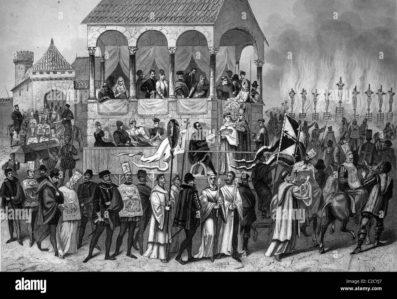 spanish inquisition The aim of the spanish inquisition was to find people who didn't practise christianity it was responsible for around 5000 deaths over a period of 350 years.