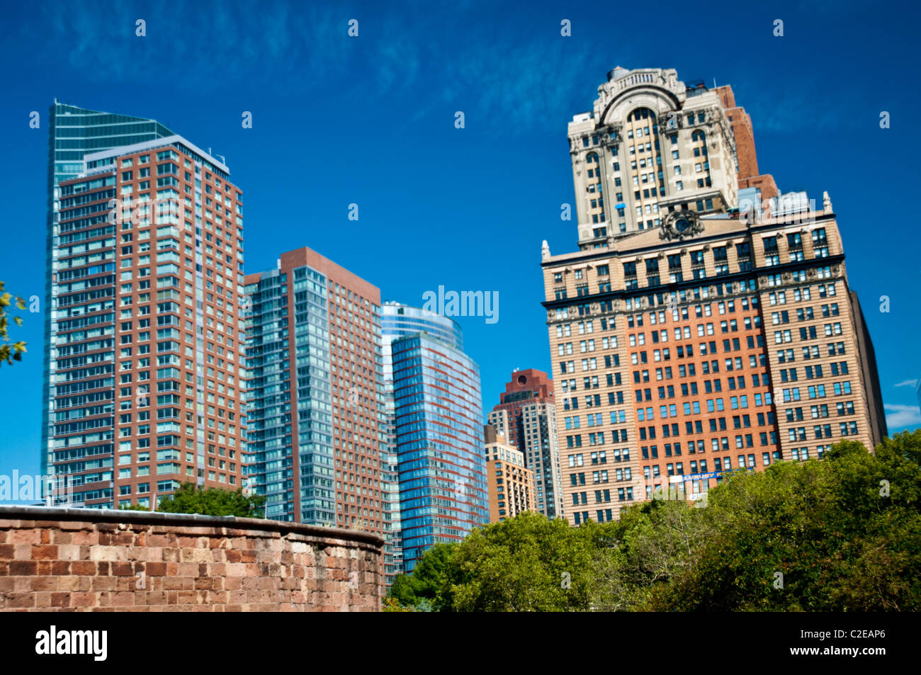 17 Battery Place And Other Apartment Buildings Near Battery Park,  Manhattan, New York City, USA