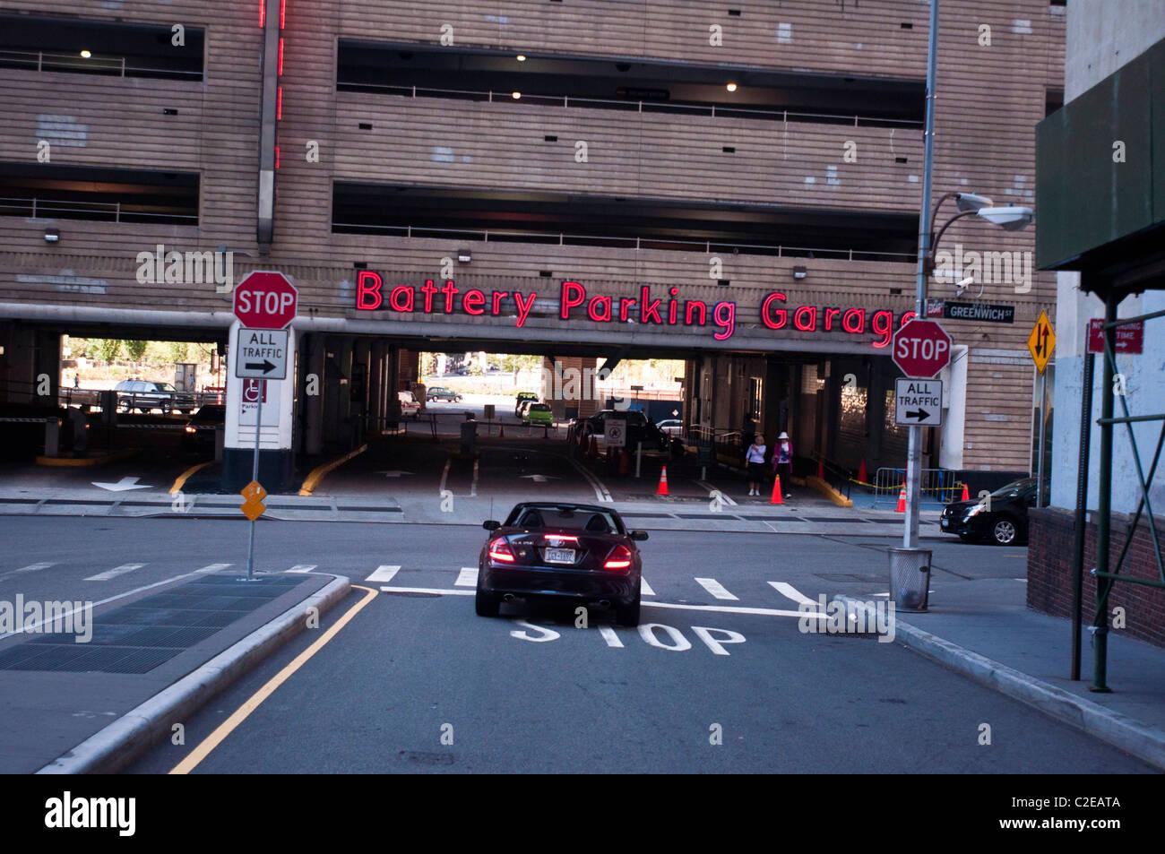 Battery Parking Garage Near Battery Park Manhattan New