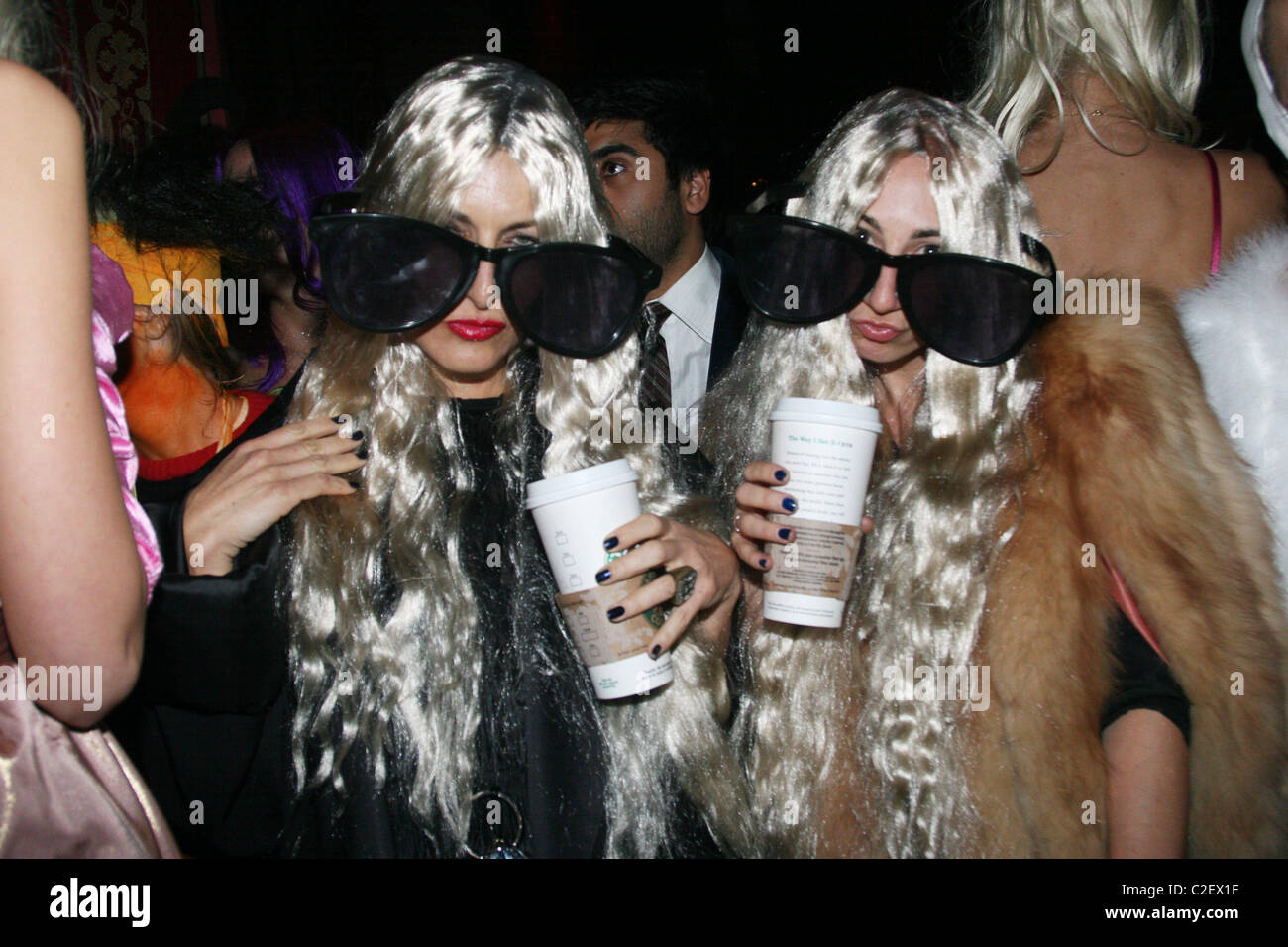 mary kate olsen and ashley olsen costumes v magazine halloween party at the rose bar in the gramercy park hotel inside new - Mary Kate And Ashley Olsen Halloween