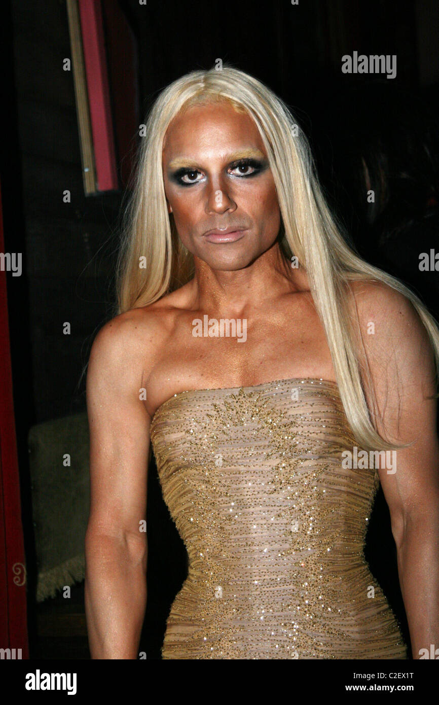 James Kaliardos as Donatella Versace V Magazine Halloween Party at ...