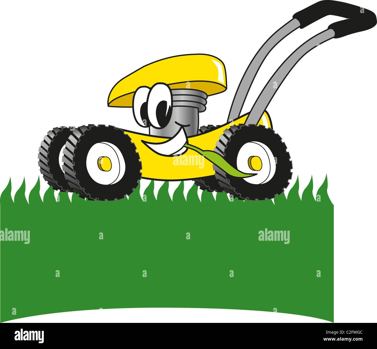 Tractor Cart Clip Art : Cartoon lawn mower clip art stock photo royalty free