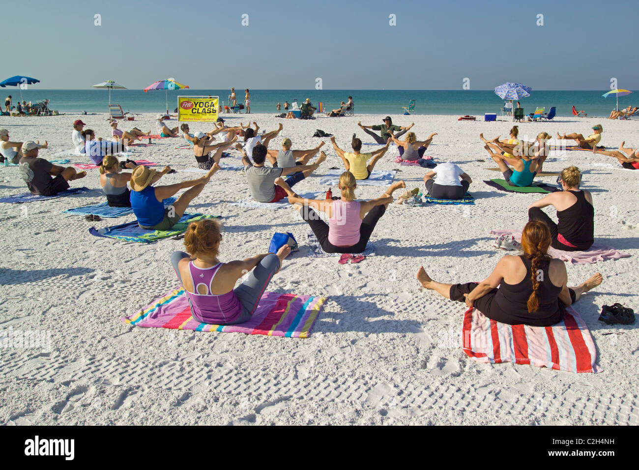 Yoga On Siesta Beach Florida