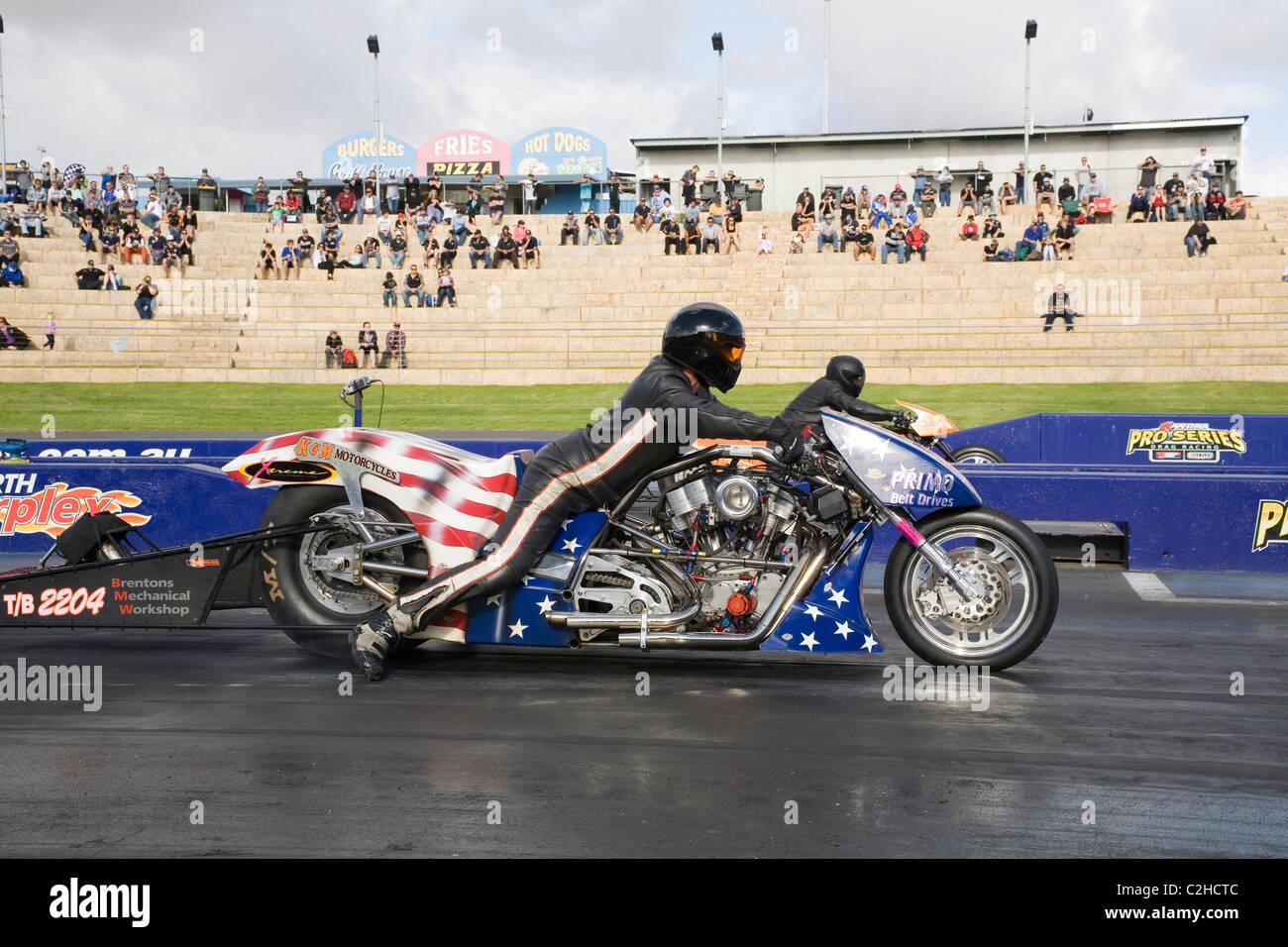Australian Nitro Fuelled Harley Davidson Based Top Bike Drag