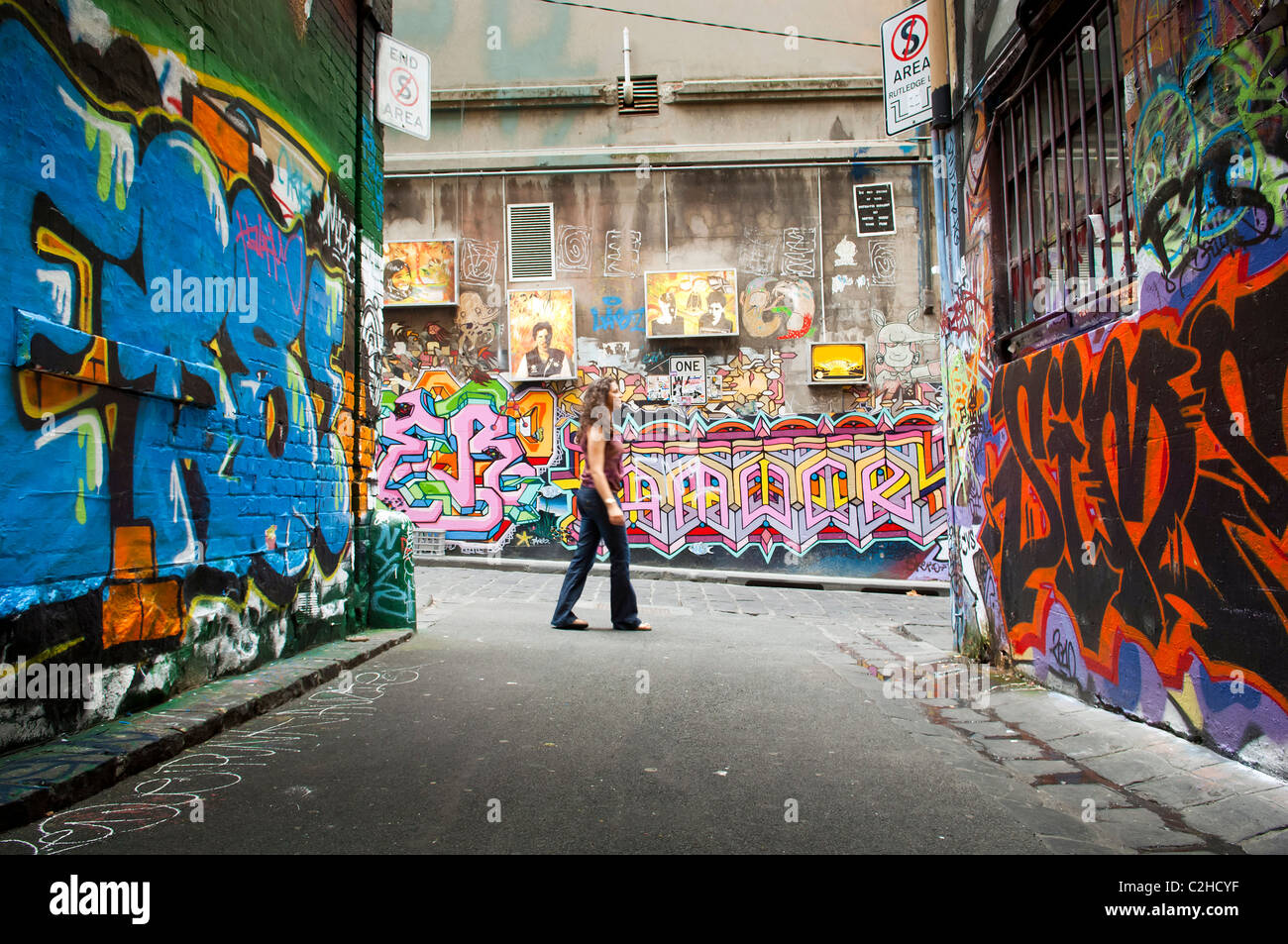 Graffiti wall chelmsford - Hosier Lane In Melbourne Australia Is Home To Legal Graffiti Stock Image