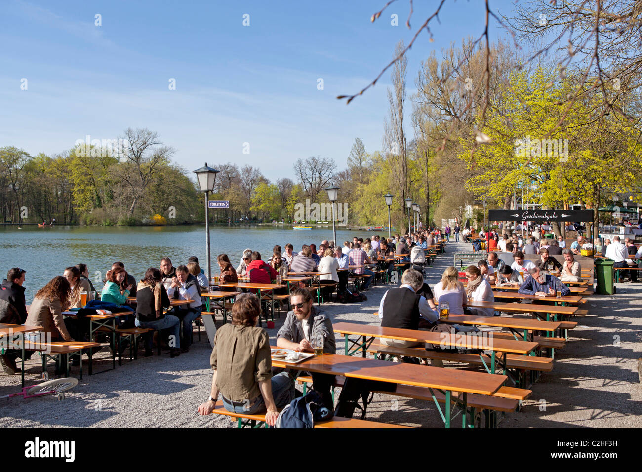 Beer Garden Lake House Seehaus English Garden Munich