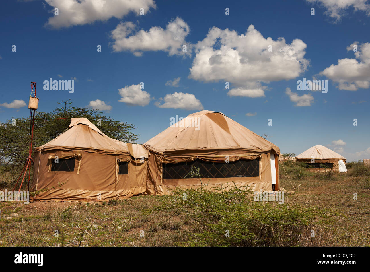 tents in style of yurt from Nduara Loliondo Tended Safari C& Serengeti Tanzania Africa & tents in style of yurt from Nduara Loliondo Tended Safari Camp ...