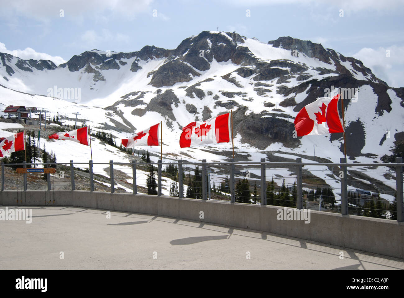 Canadian flags at the top of Blackcomb mountain, Whistler ... - photo#19