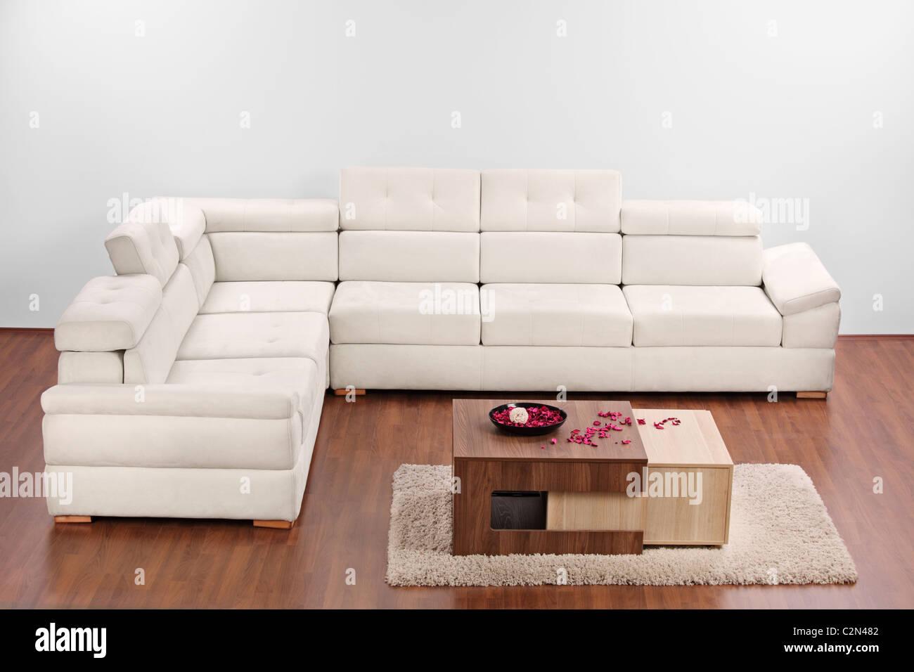 A Studio Shot Of Modern Minimalist Living Room With Furniture