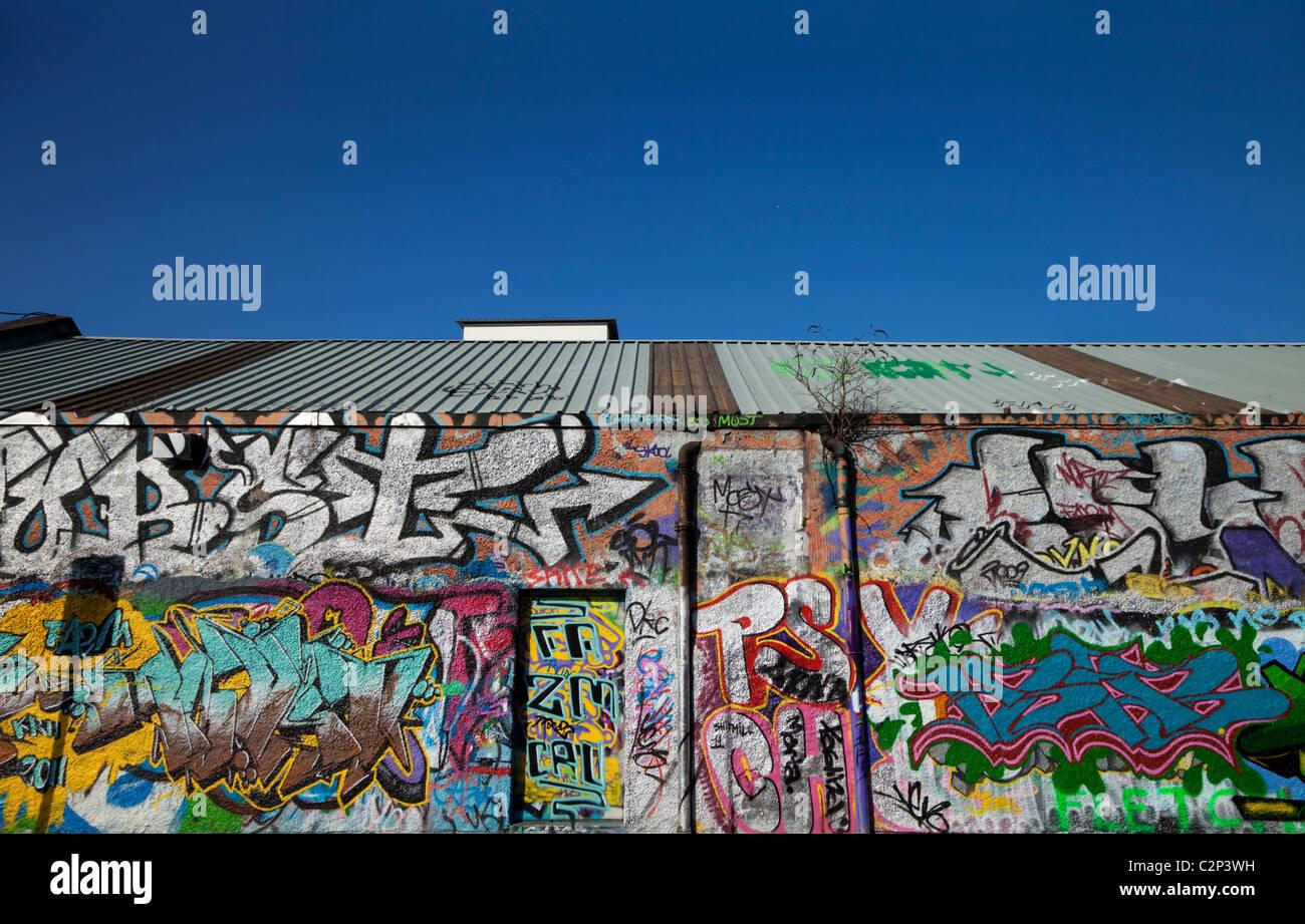 Graffiti wall dublin - Stock Photo The U2 Graffiti Wall Part Of Windmill Lane Studios Dublin City Ireland Sadly Demolished In 2015