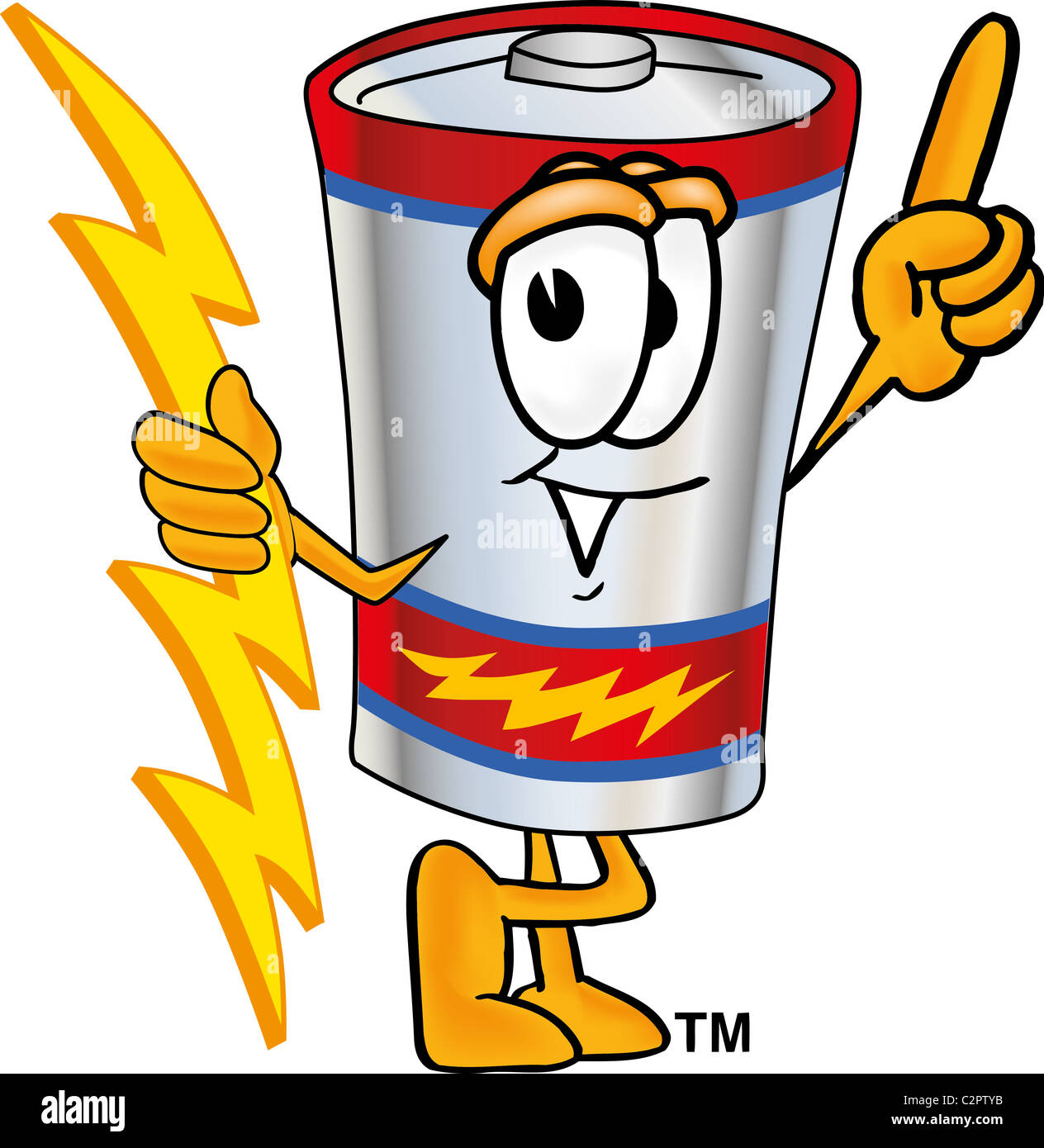 Battery character stock photos battery character stock images alamy cartoon battery mascot holding a lightning bolt stock image buycottarizona Image collections