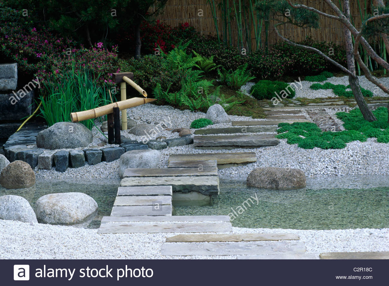Japanese water feature stepping stones and stream coa for Japanese garden stones
