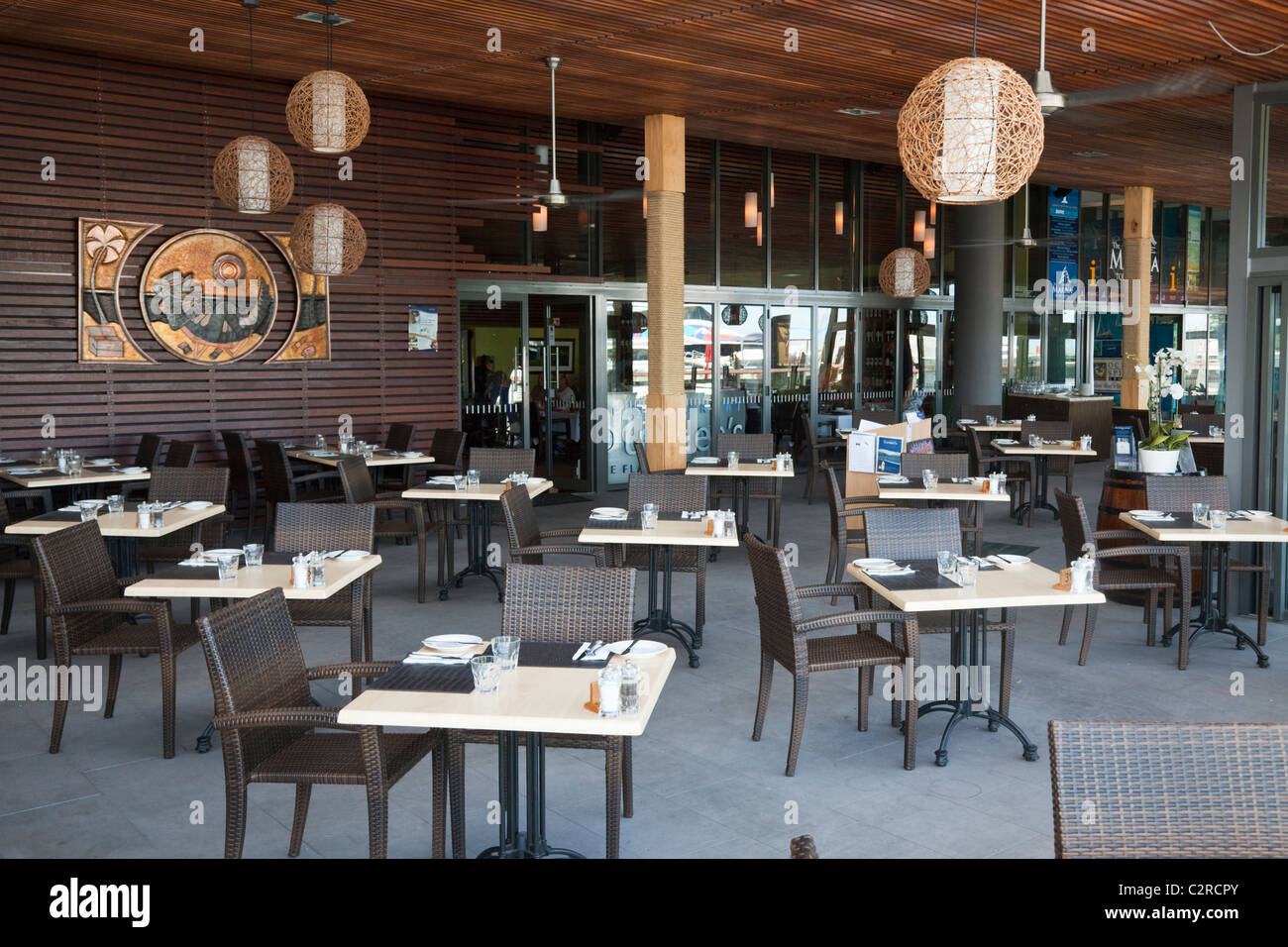 Dundees Restaurant On The Waterfront Harbour Lights Cairns Queensland Australia