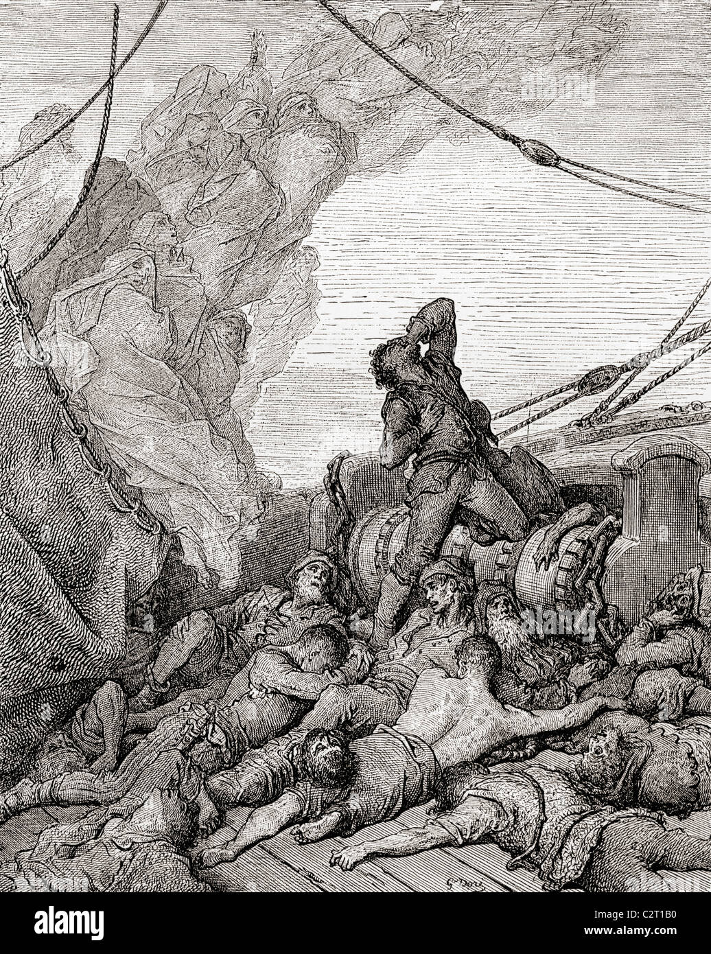 Ancient drawing stock photos ancient drawing stock images alamy after the original drawing by gustave dore for the rime of the ancient mariner biocorpaavc Images