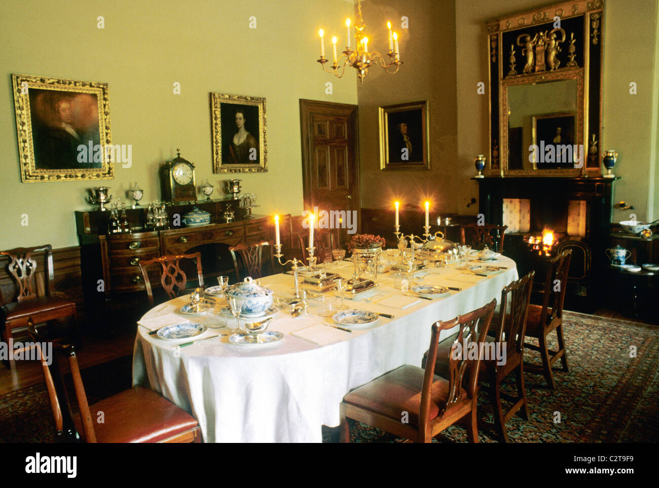 Edinburgh, The Georgian House, Dining Room interior Scotland UK ...