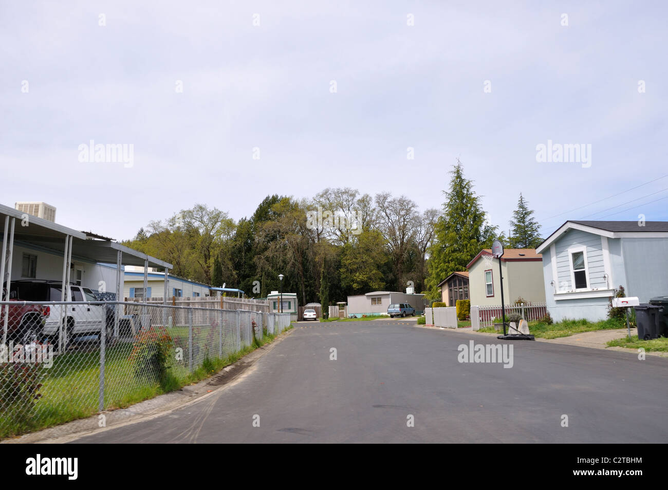 Wagon Wheel Mobile Home Park California USA Stock Photo Royalty