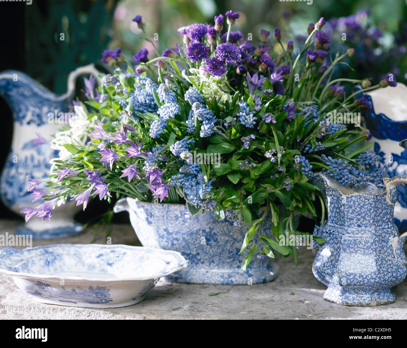 Kenneth turner arranged blue purple spring flowers in blue white kenneth turner arranged blue purple spring flowers in blue white china dhlflorist Choice Image
