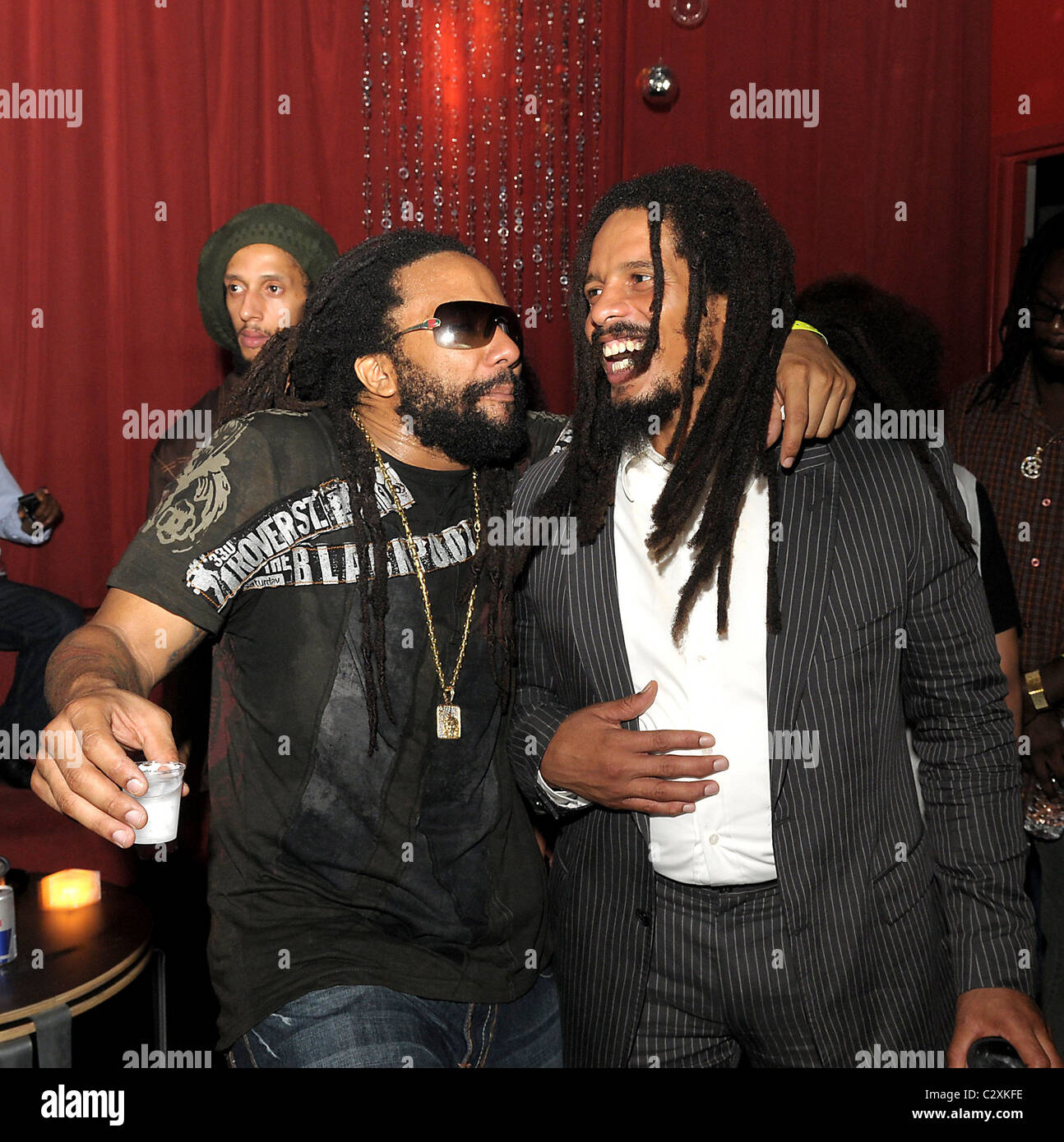 rohan marley and kymani marley at the launch of rohan