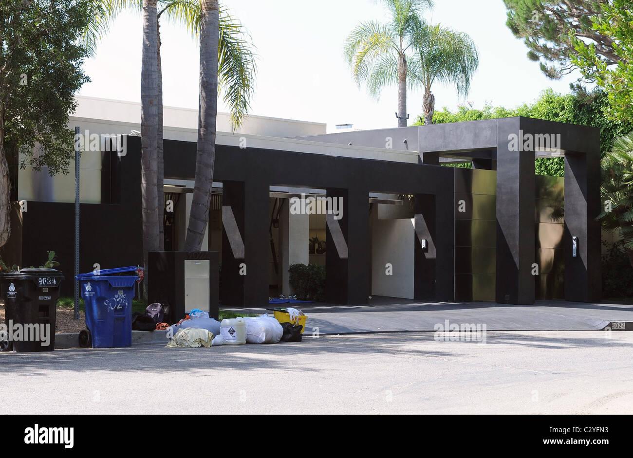 Keanu Reeves' Home Los Angeles, California - 27.08.08 Stock Photo ...