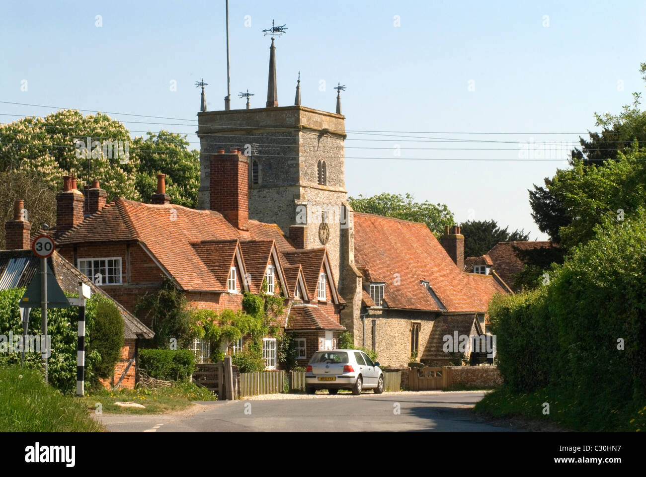 Bucklebury Reading Berkshire Uk Church Of St Mary The
