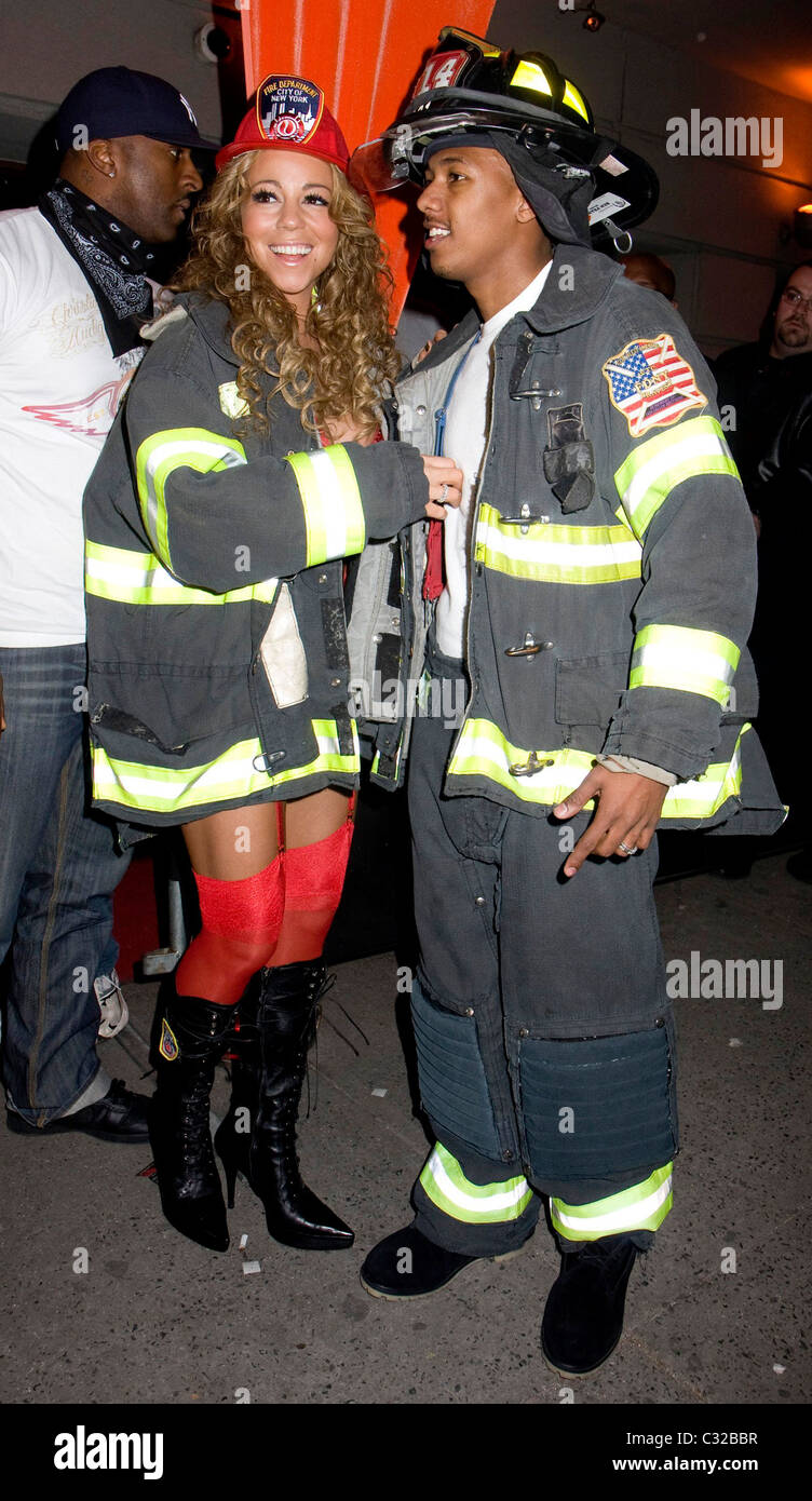 Mariah Carey and Nick Cannon at Mariah Carey's Halloween Party at ...