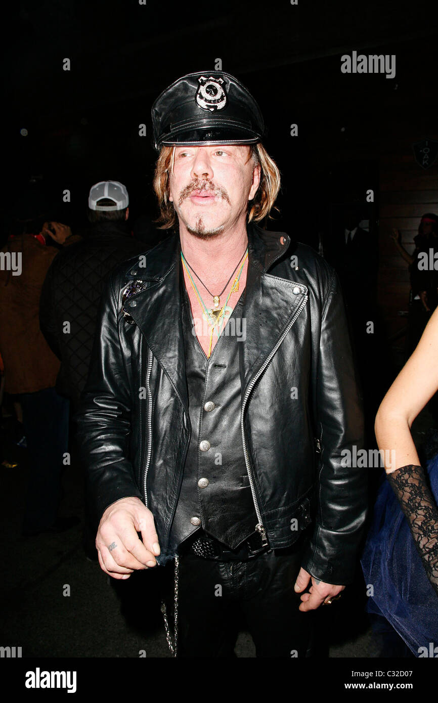 Mickey Rourke Heidi Klum's Halloween Party at 1 Oak New York City ...