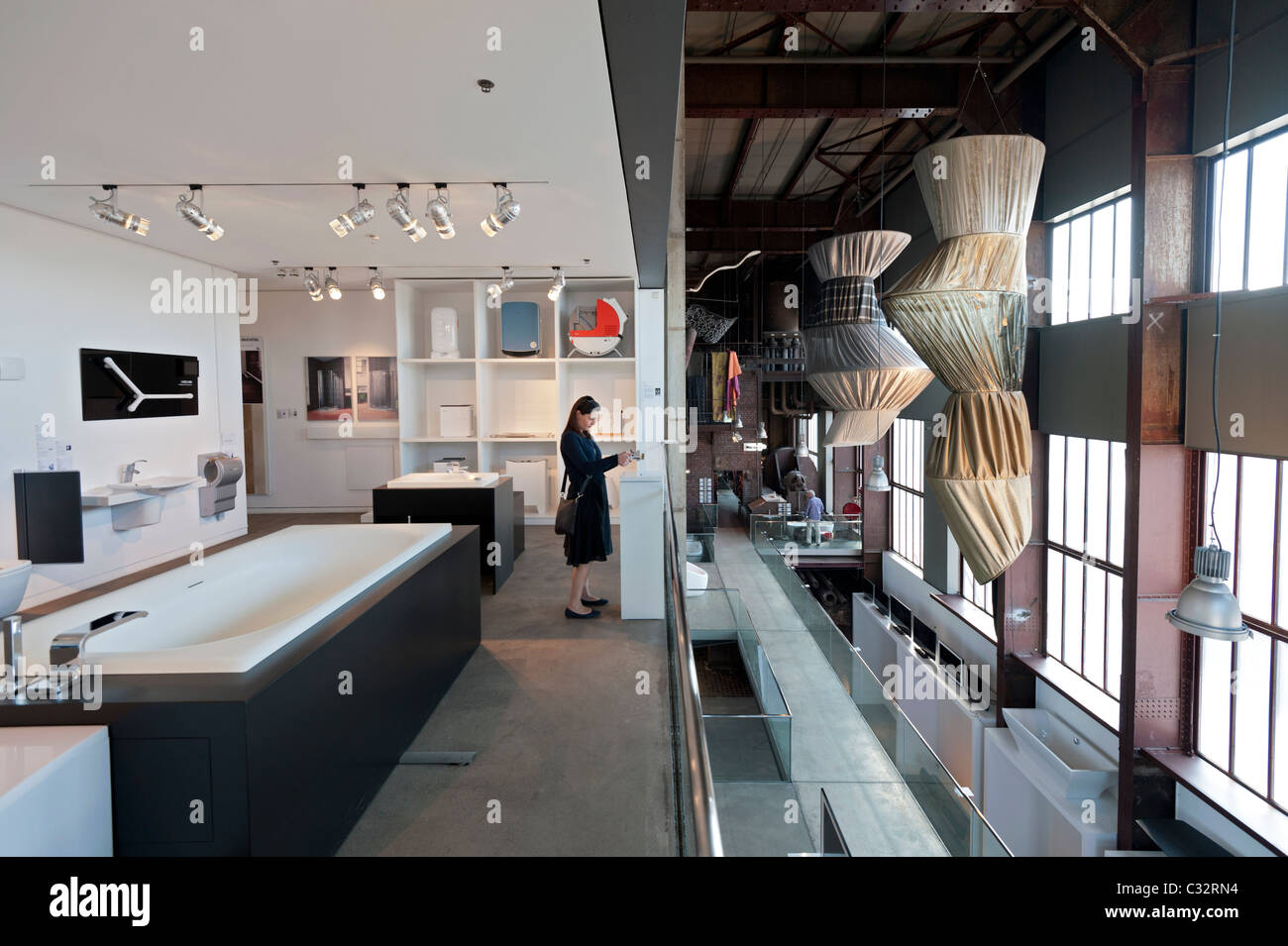 red dot design museum in essen germany historic building renovated by stock photo royalty free. Black Bedroom Furniture Sets. Home Design Ideas