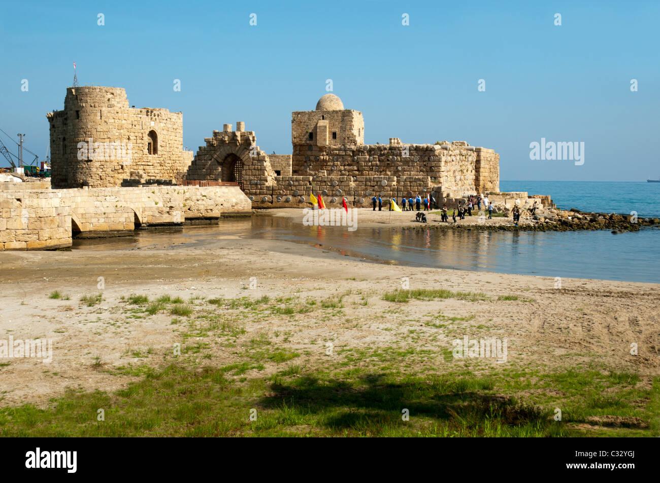 Crusader castle . Sidon ( Saida ) , Mediterranean ...