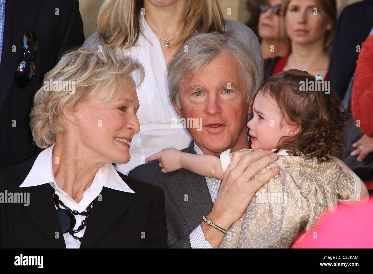 glenn close husband david shaw and granddaughter glenn