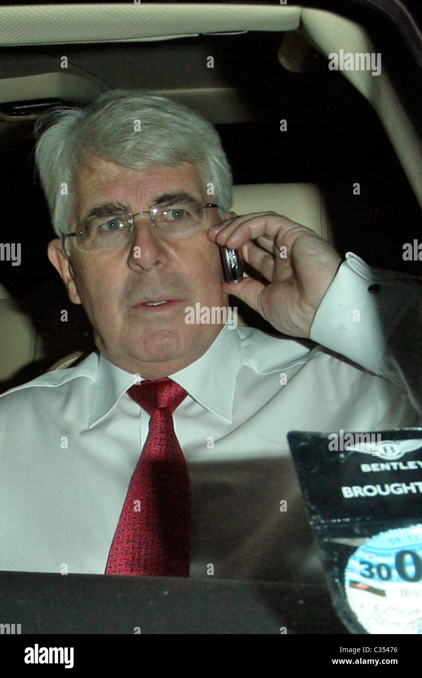 Max Clifford Arriving At Down Hall Country House Hotel As A Guest Jade Goodys Wedding Hertfordshire England