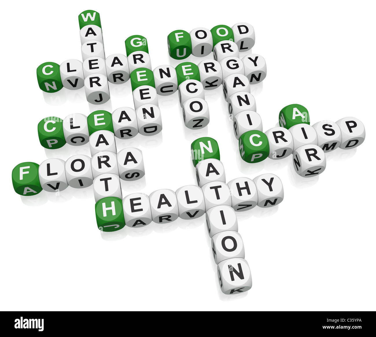 Environment crossword on white background Stock Photo, Royalty ...