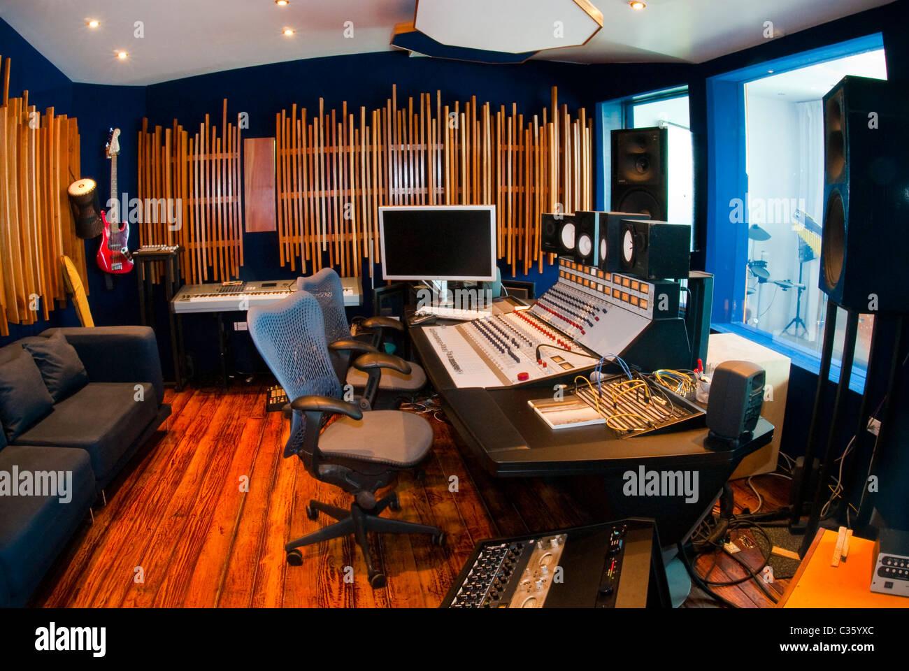Interior Of Geejam Recording Studio, San San, Port Antonio, Portland,  Jamaica.