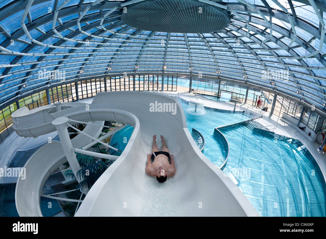 The vichy val d 39 allier swimming pool waterslide france - Playmobil swimming pool with waterslide ...