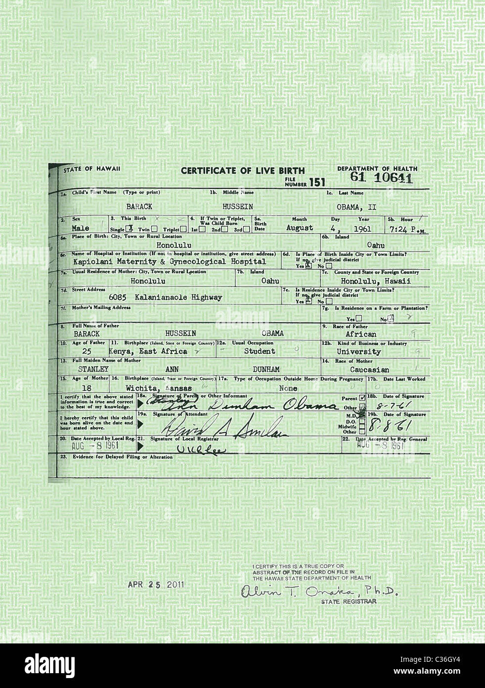 A handout provided by the white house of a copy of president a handout provided by the white house of a copy of president barack obamas long form hawaiian birth certificate aiddatafo Gallery