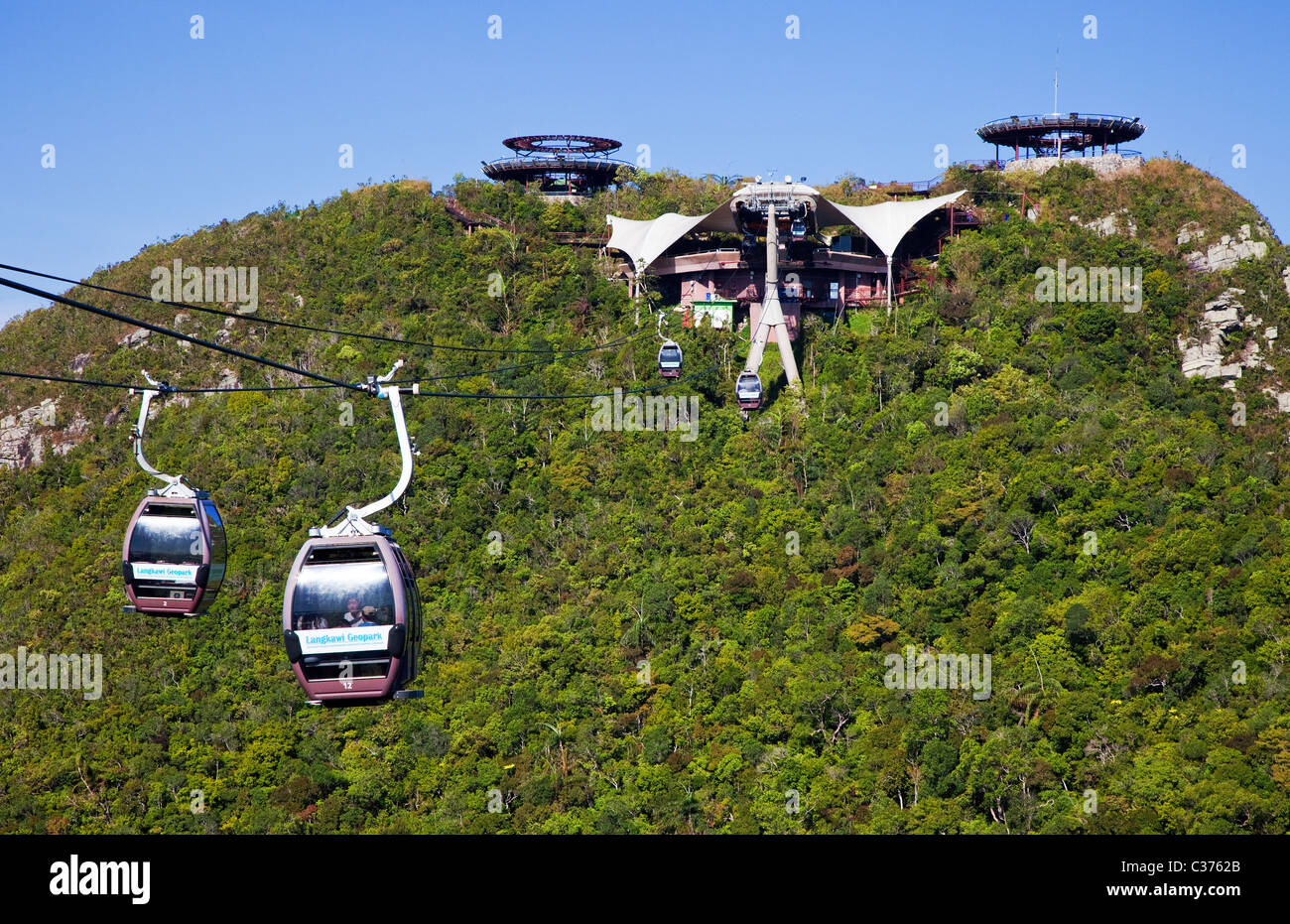 Langkawi Cable Car Top Station Stock Photo Royalty Free Image