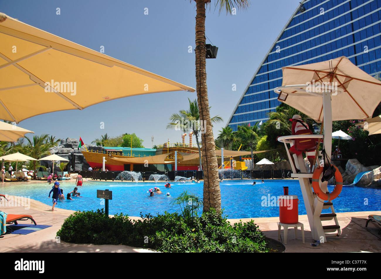 Family Swimming Pool Jumeirah Beach Hotel Jumeirah Dubai United Stock Photo 36437406 Alamy