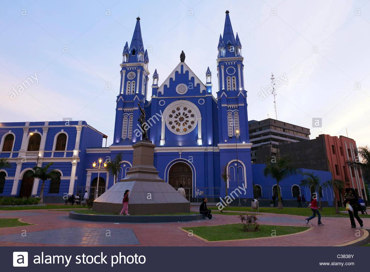 iglesia la recoleta church plaza francia in lima peru
