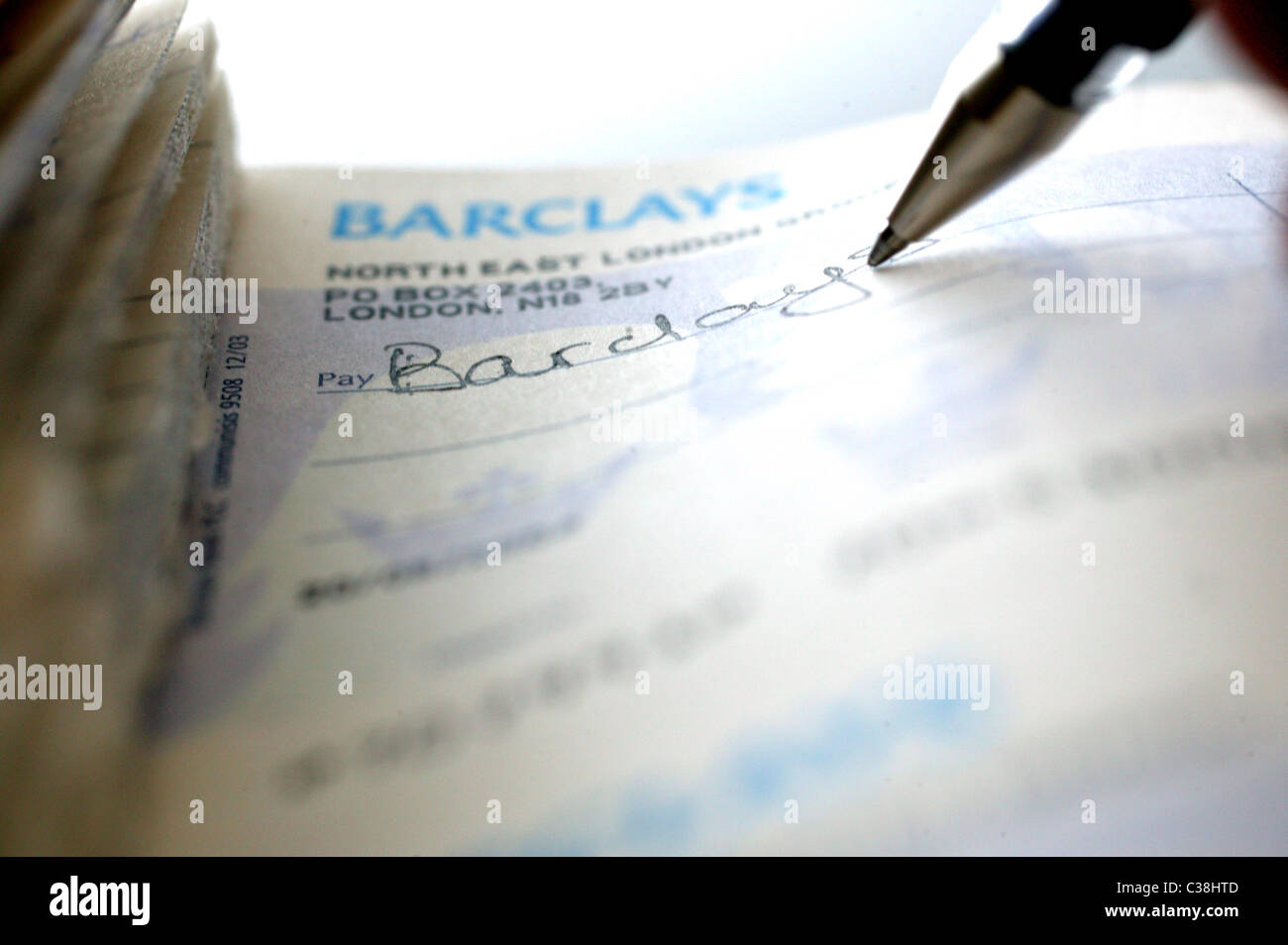 Lloyds Tsb How To Fill Out A Cheque Illustrative Image Of A Barclays Bank  Cheque Book Stock Image