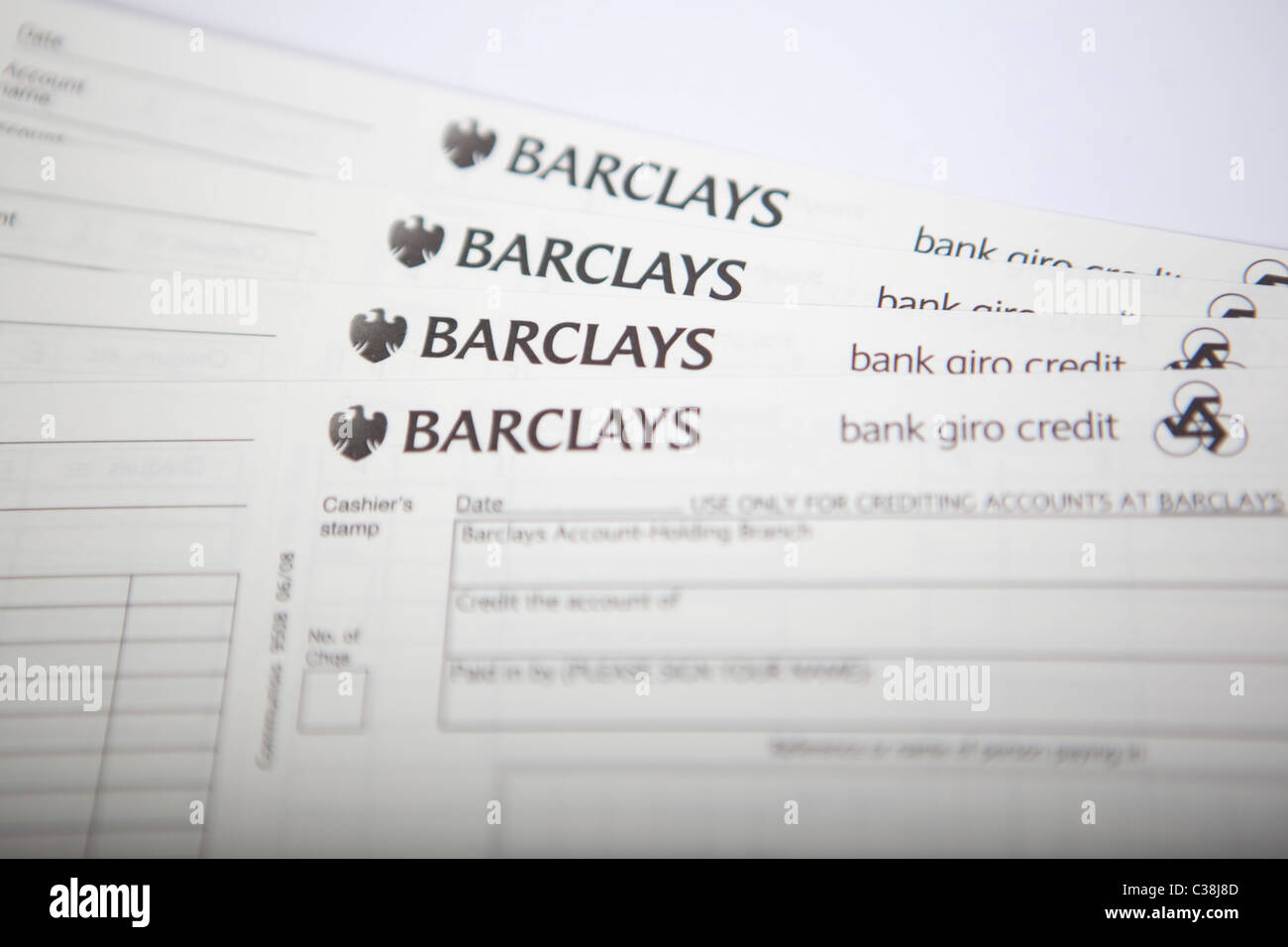 Barclays Paying In Slips  Pay In Slips
