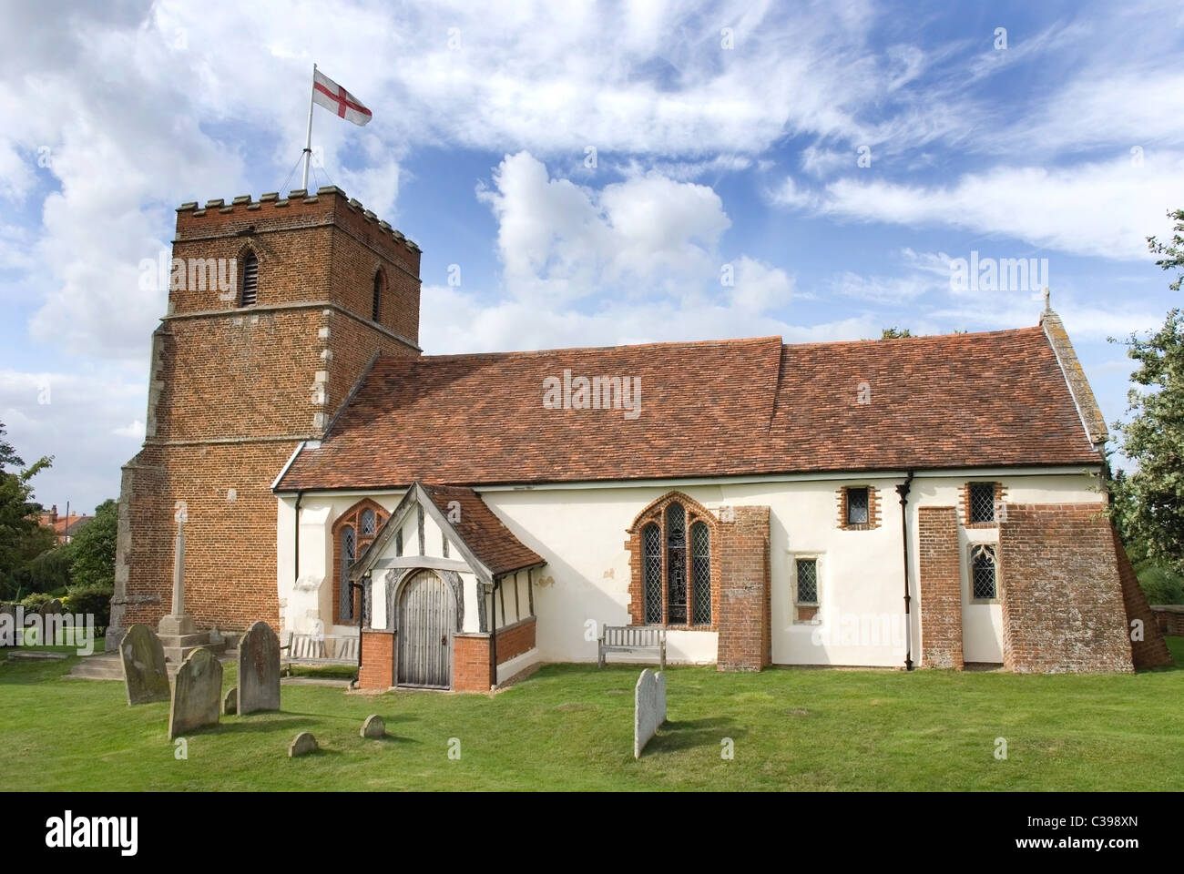 Village church, Levington, Suffolk, UK Stock Photo, Royalty Free ...
