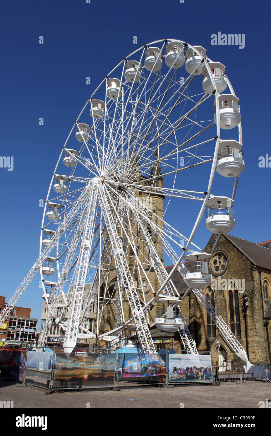 big wheel erected outside the winter gardens in church street