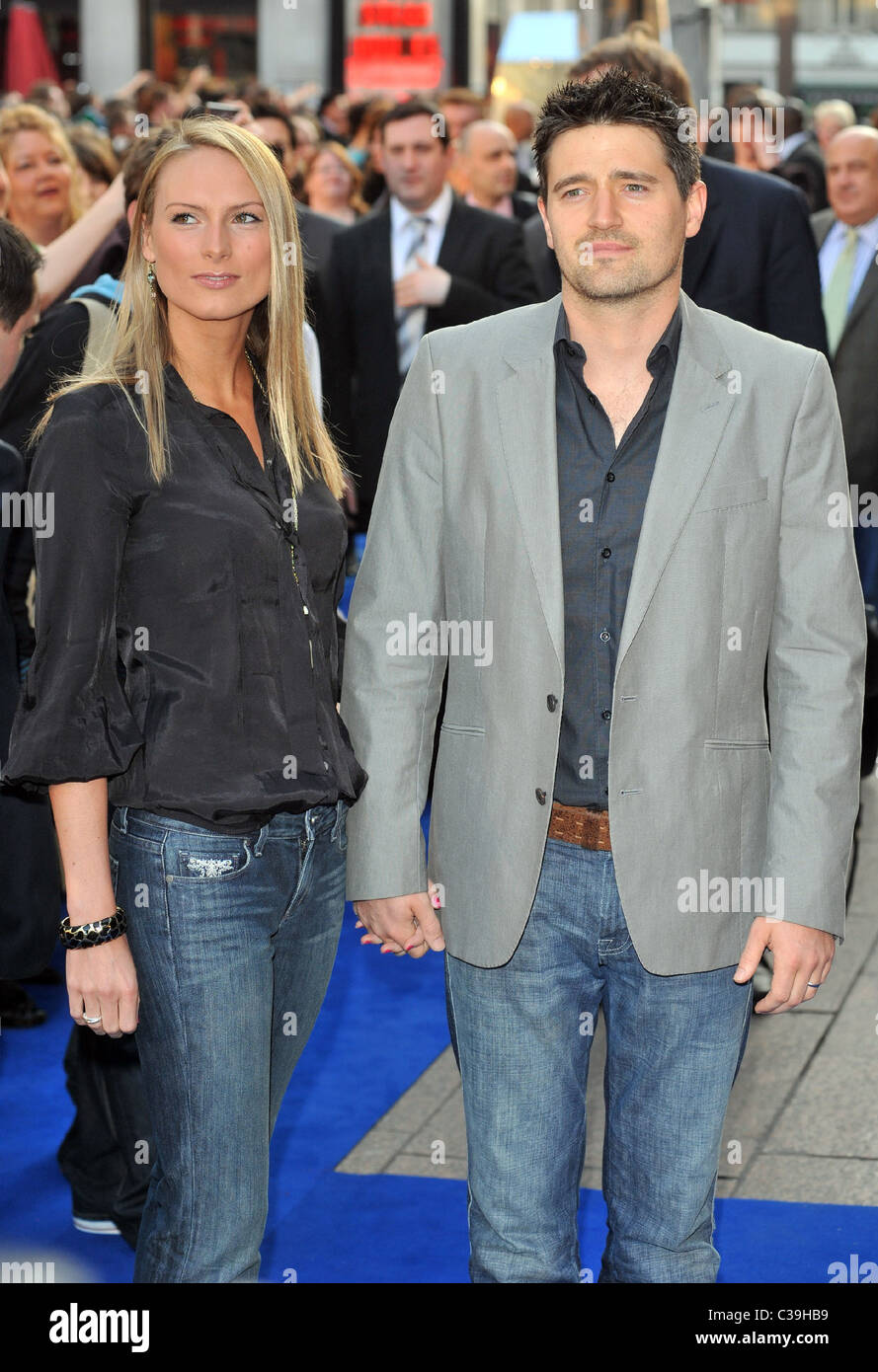 Tom Chambers and Clair Harding UK film premiere of Star Trek at