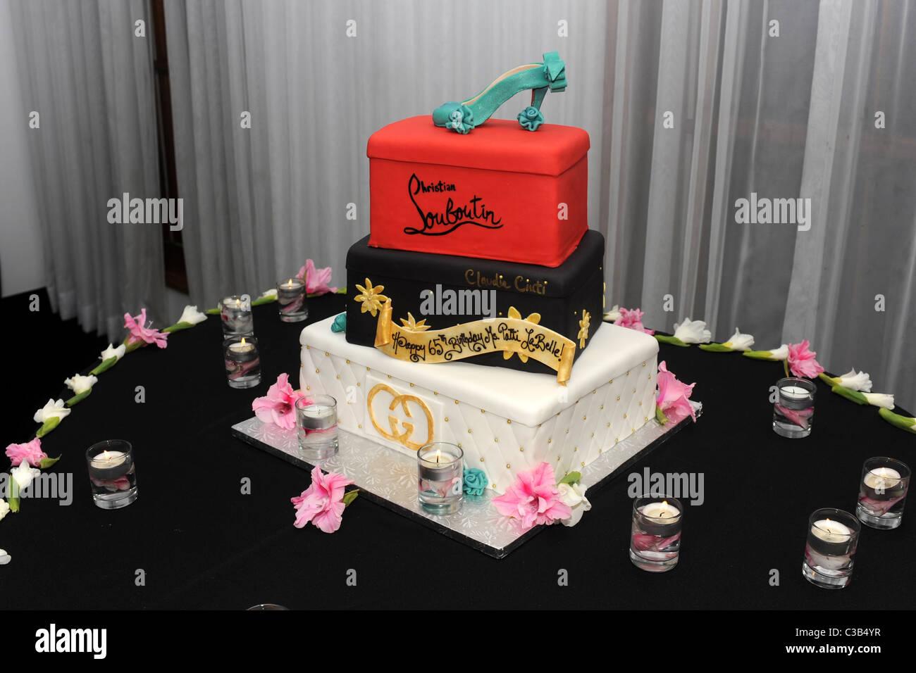 Christian Louboutin cake Patti LaBelle celebrates her 65th Birthday