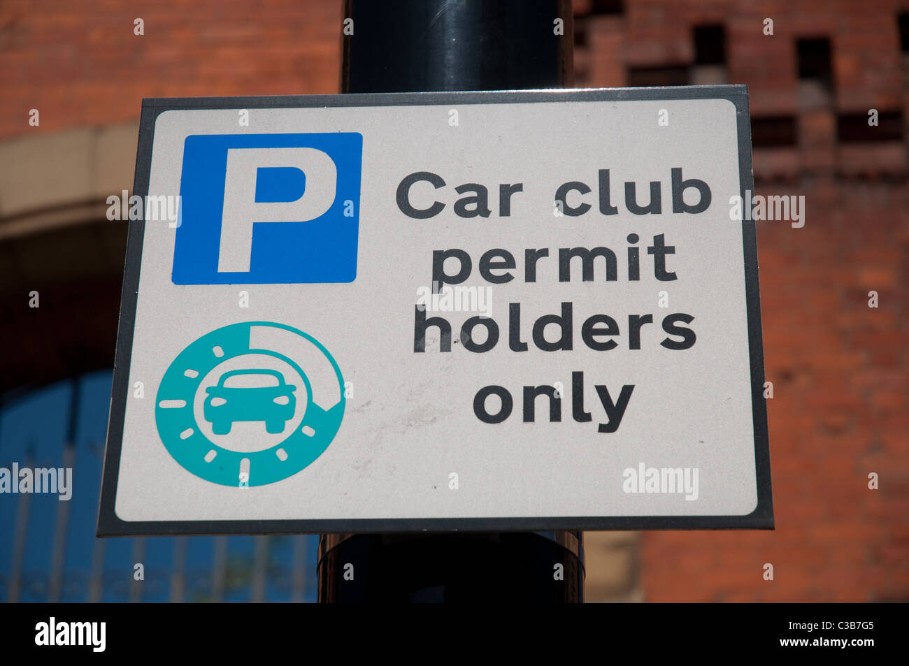 Sign For Car Club Parking Space Northern Quarter Manchester Stock