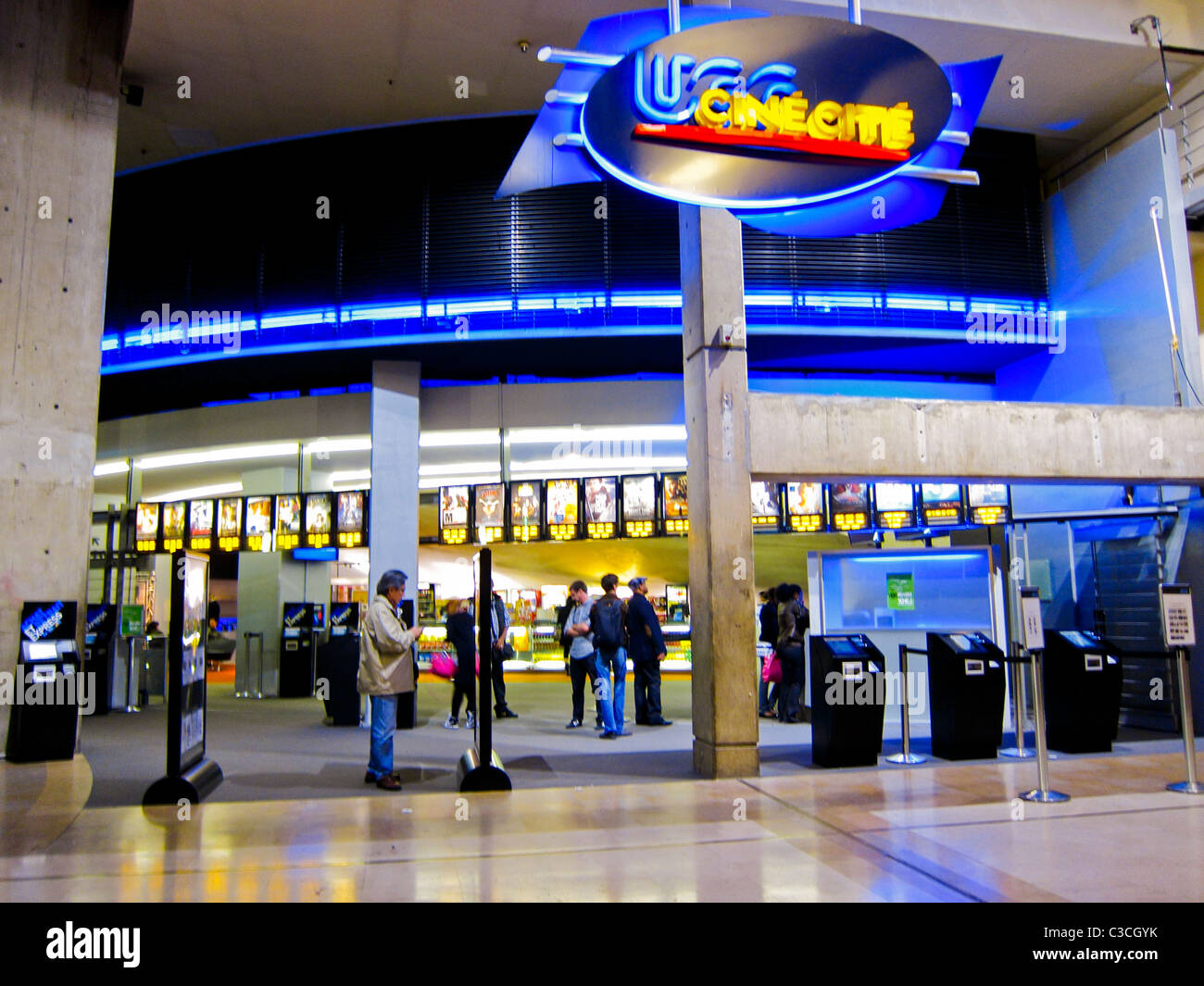 paris france entrance to french ugc cinema complex inside le stock photo 36541447 alamy. Black Bedroom Furniture Sets. Home Design Ideas
