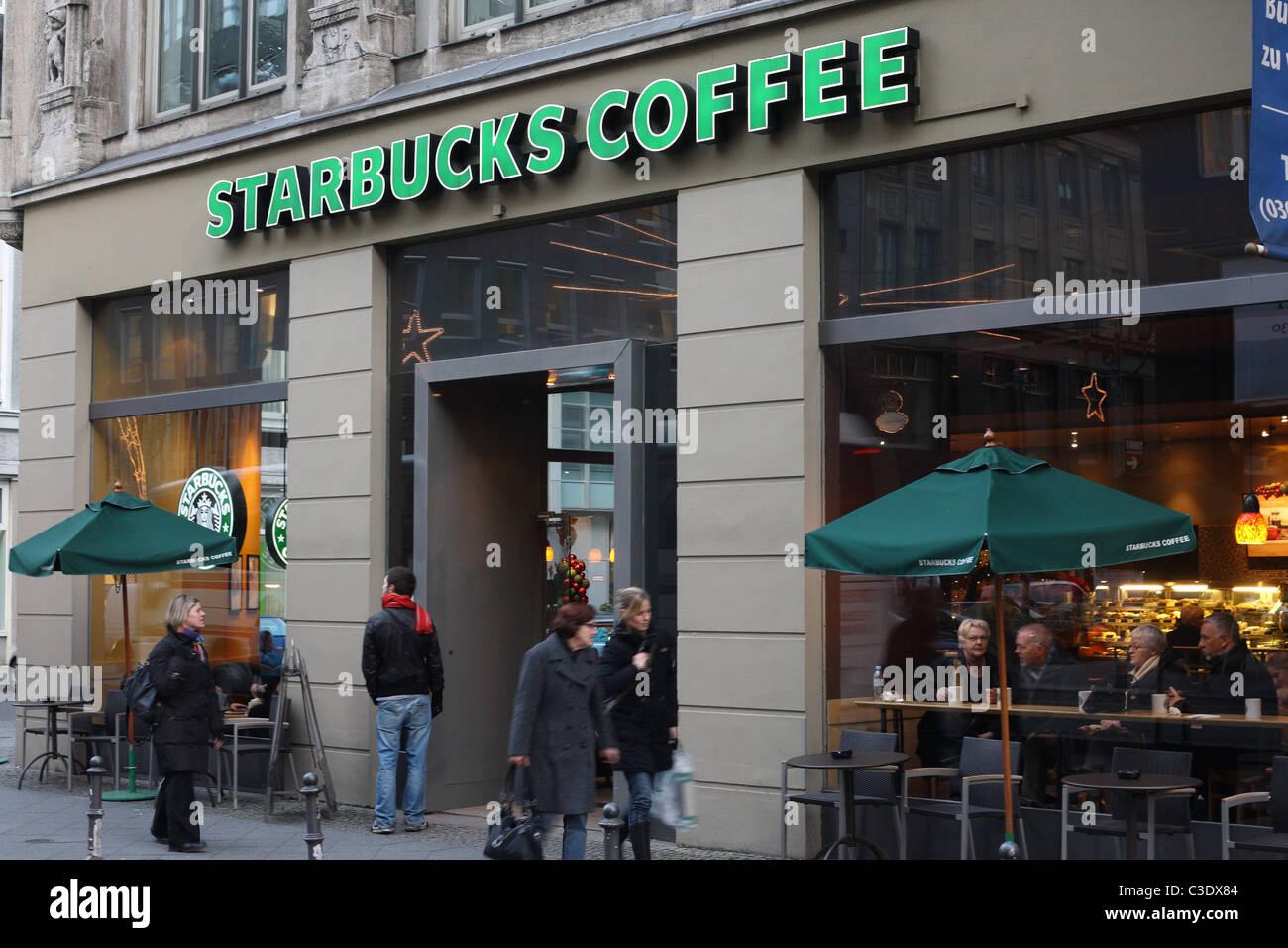 starbucks coffee shop berlin germany stock photo royalty free image 36570692 alamy. Black Bedroom Furniture Sets. Home Design Ideas