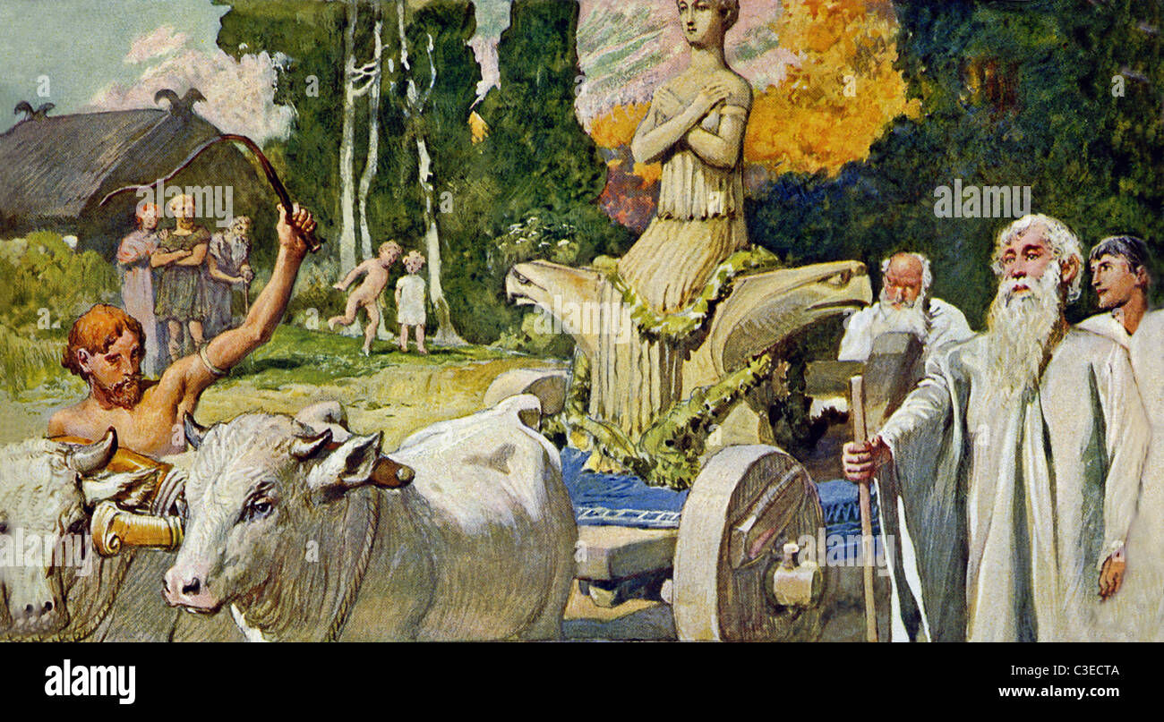 Norse goddess of fertility stock photos norse goddess of according to germanic mythology nerthus a goddess of fertility is shown as a biocorpaavc