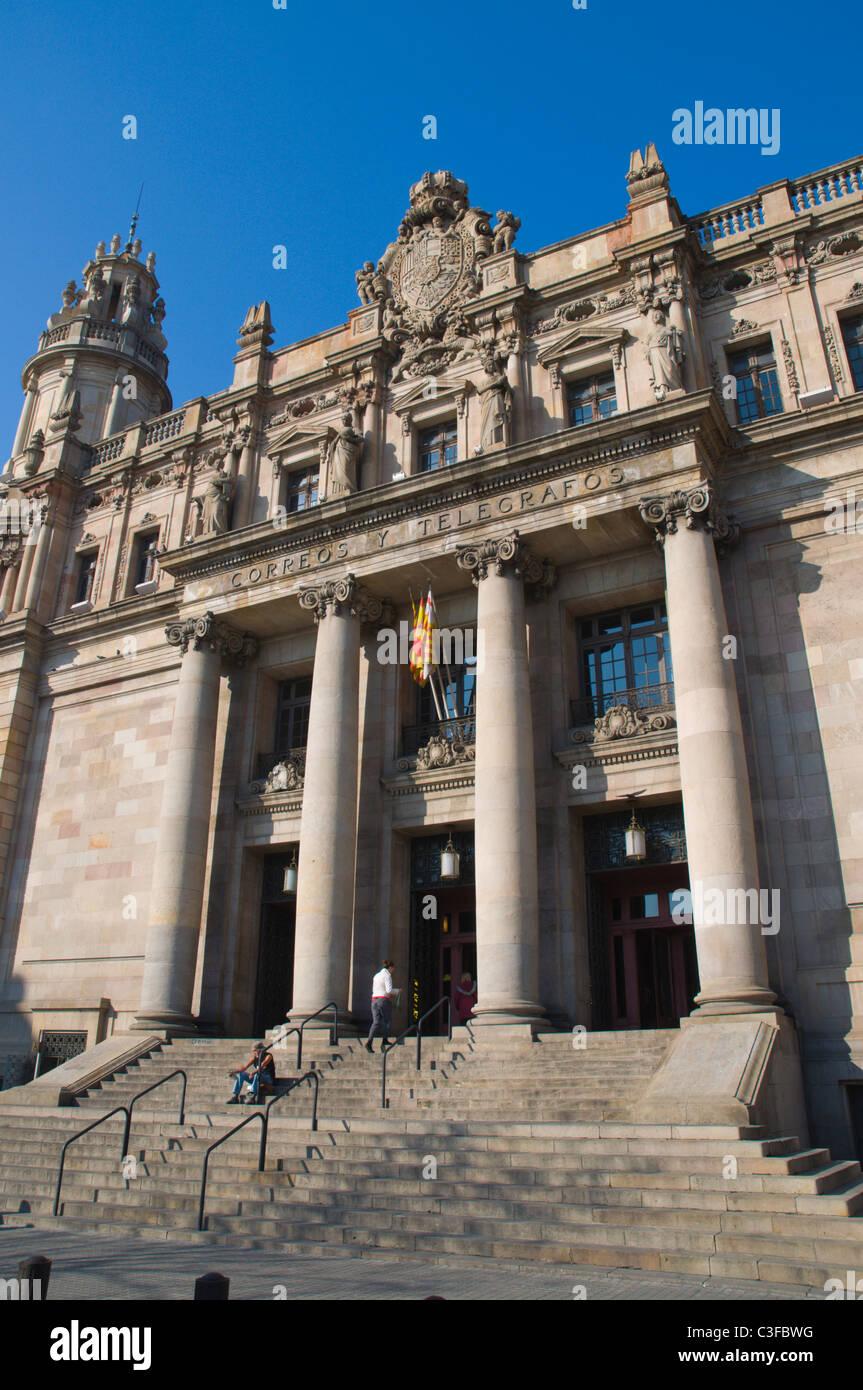 Correos y telegrafos the post office la ribera district for Oficina de correos barcelona