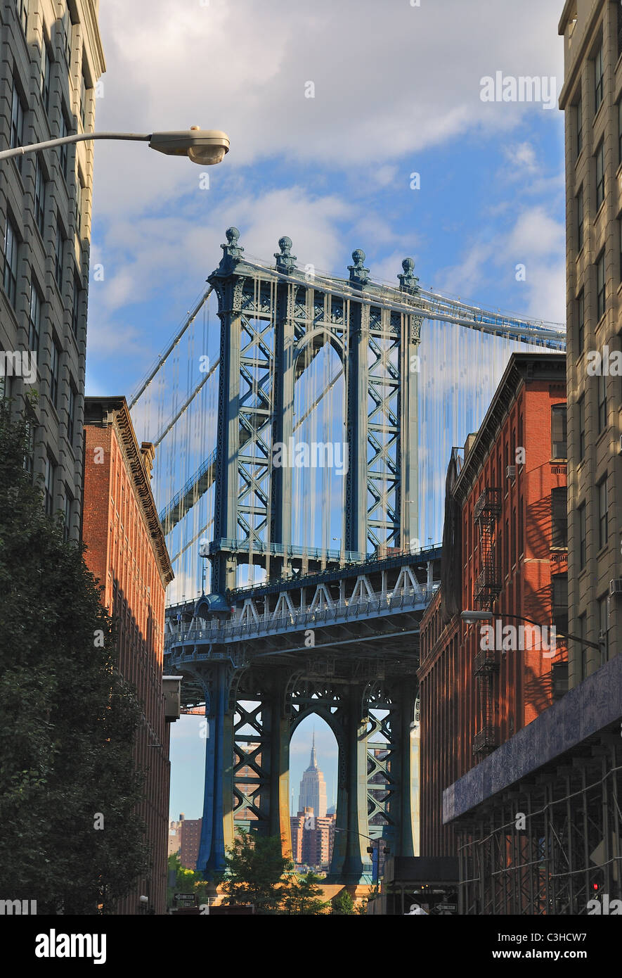 Apartment Building Brooklyn view of the manhattan bridge between brooklyn apartment buildings